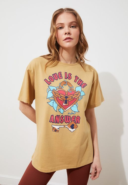 Graphic Knitted T-Shirt