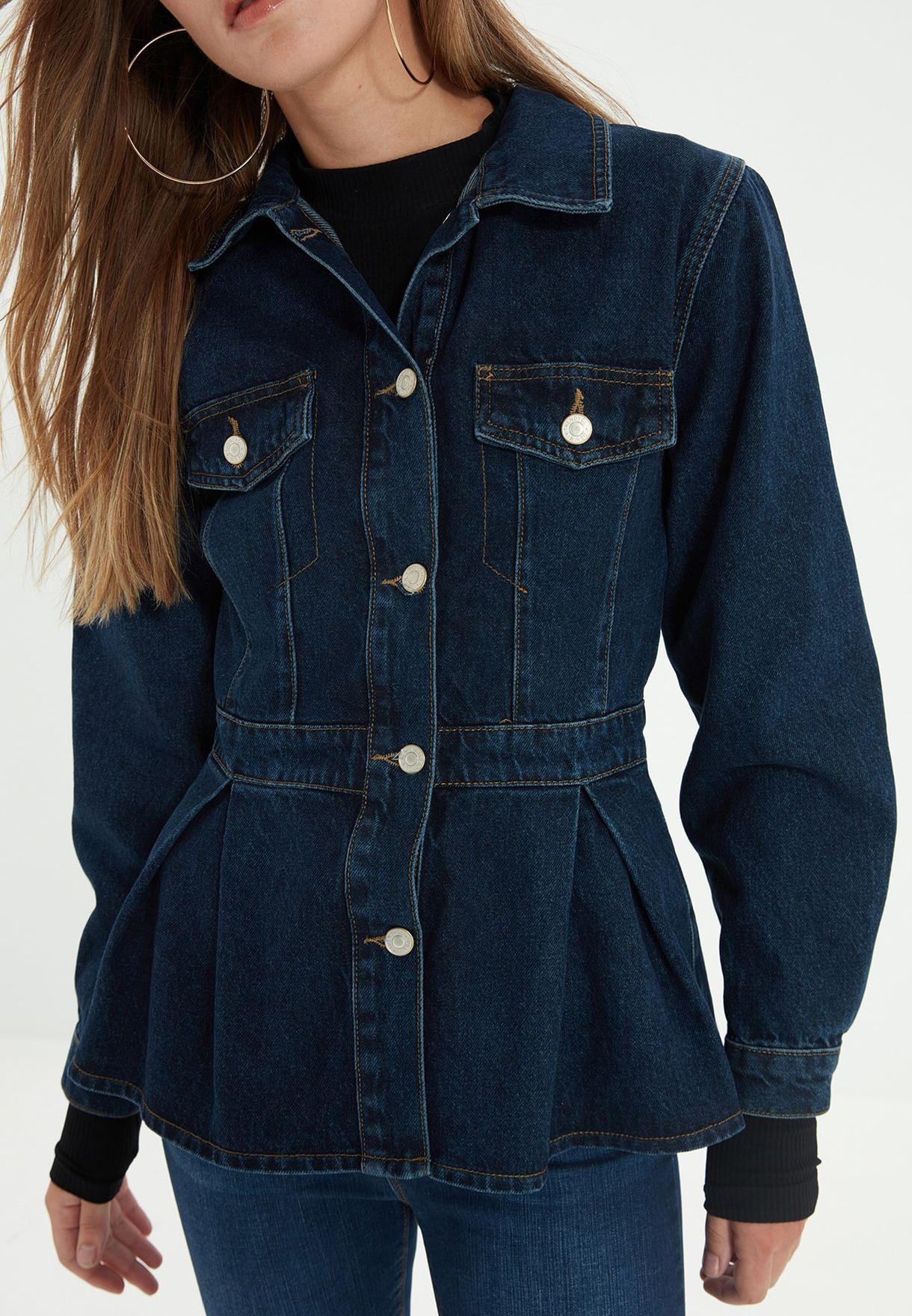 Pocket Detail Denim Jacket