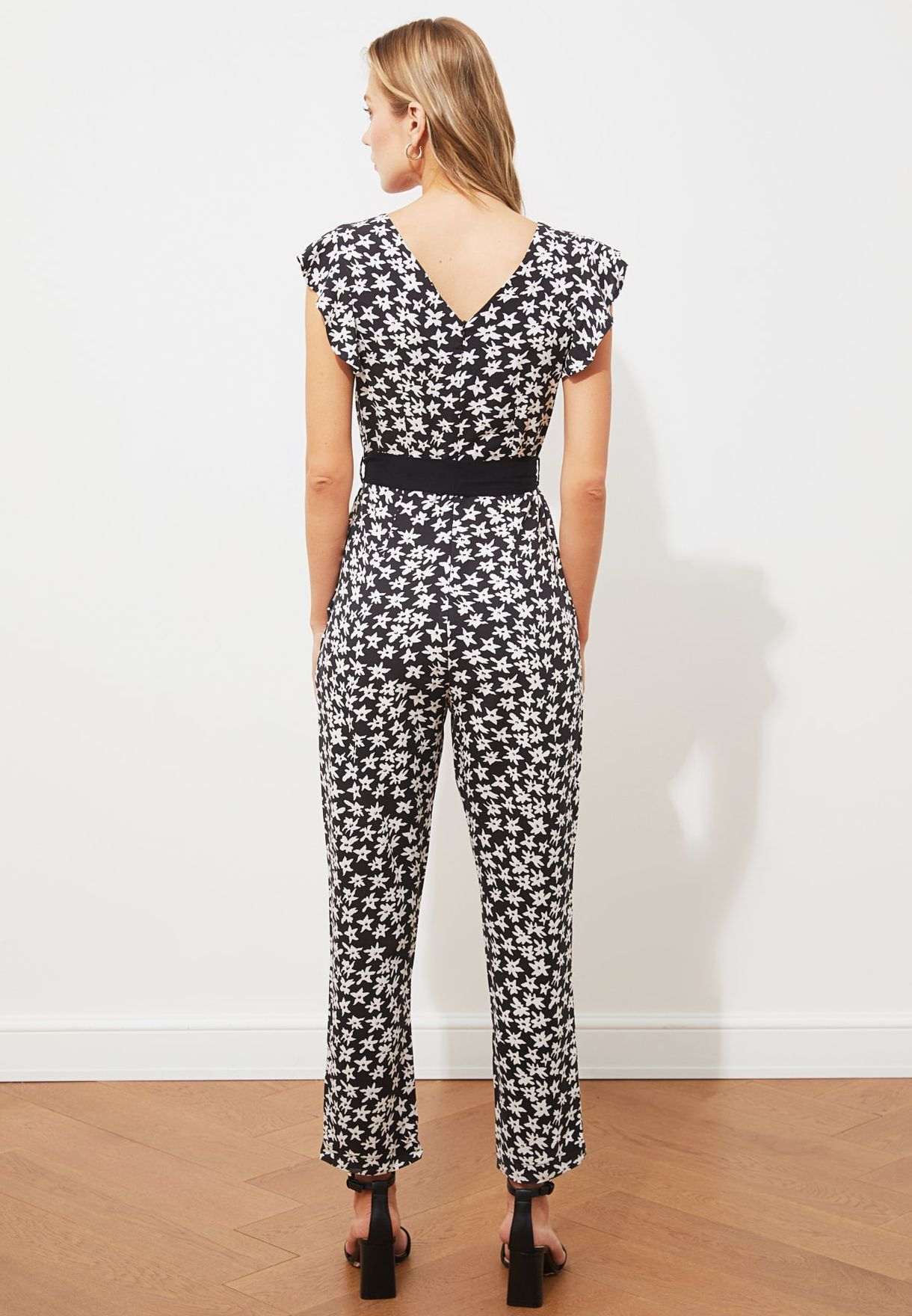Printed Knitted Jumpsuit