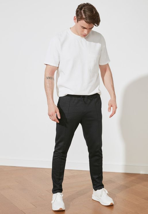 Regular Fit Essential Ribbed Sweatpants