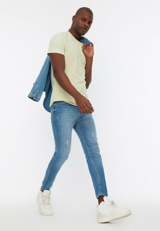 Light Wash Skinny Fit Jeans