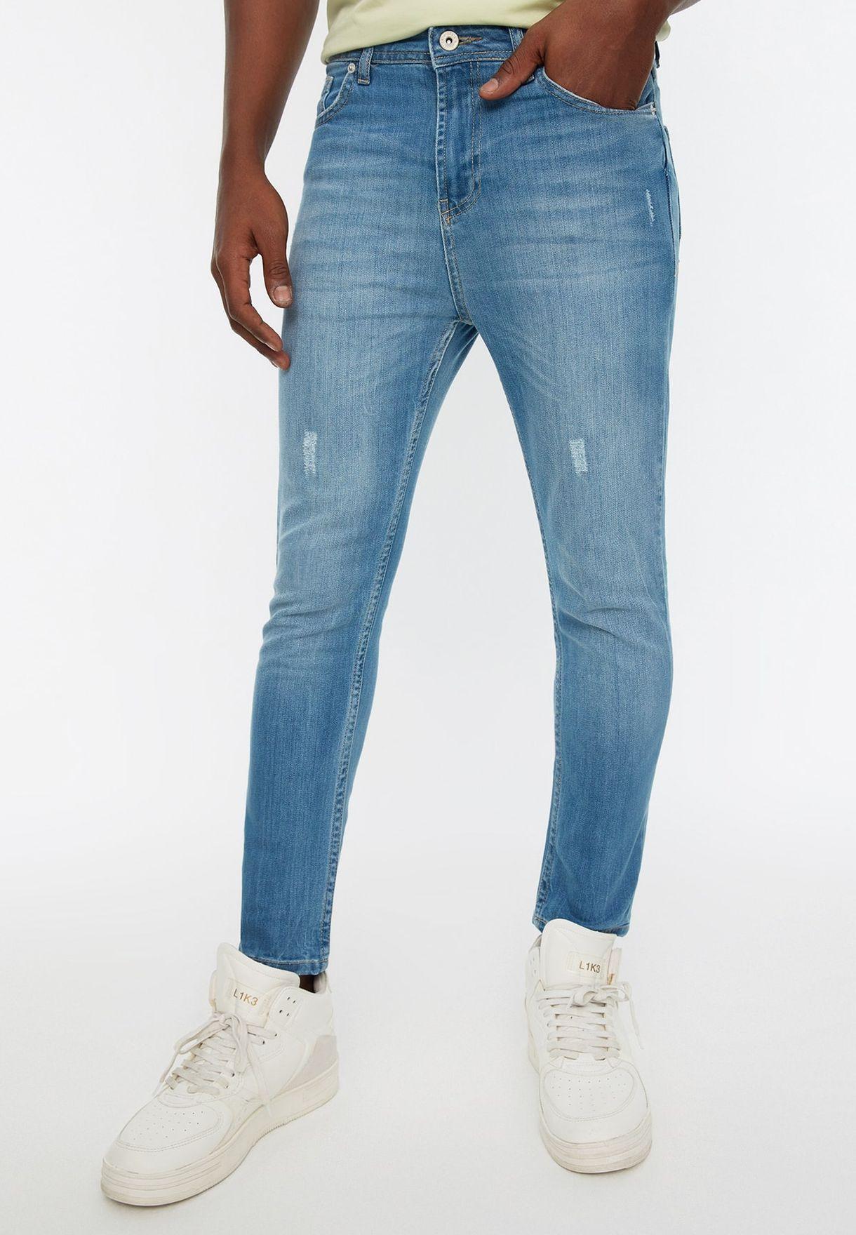 Light Wash Skinny Fit Jeans