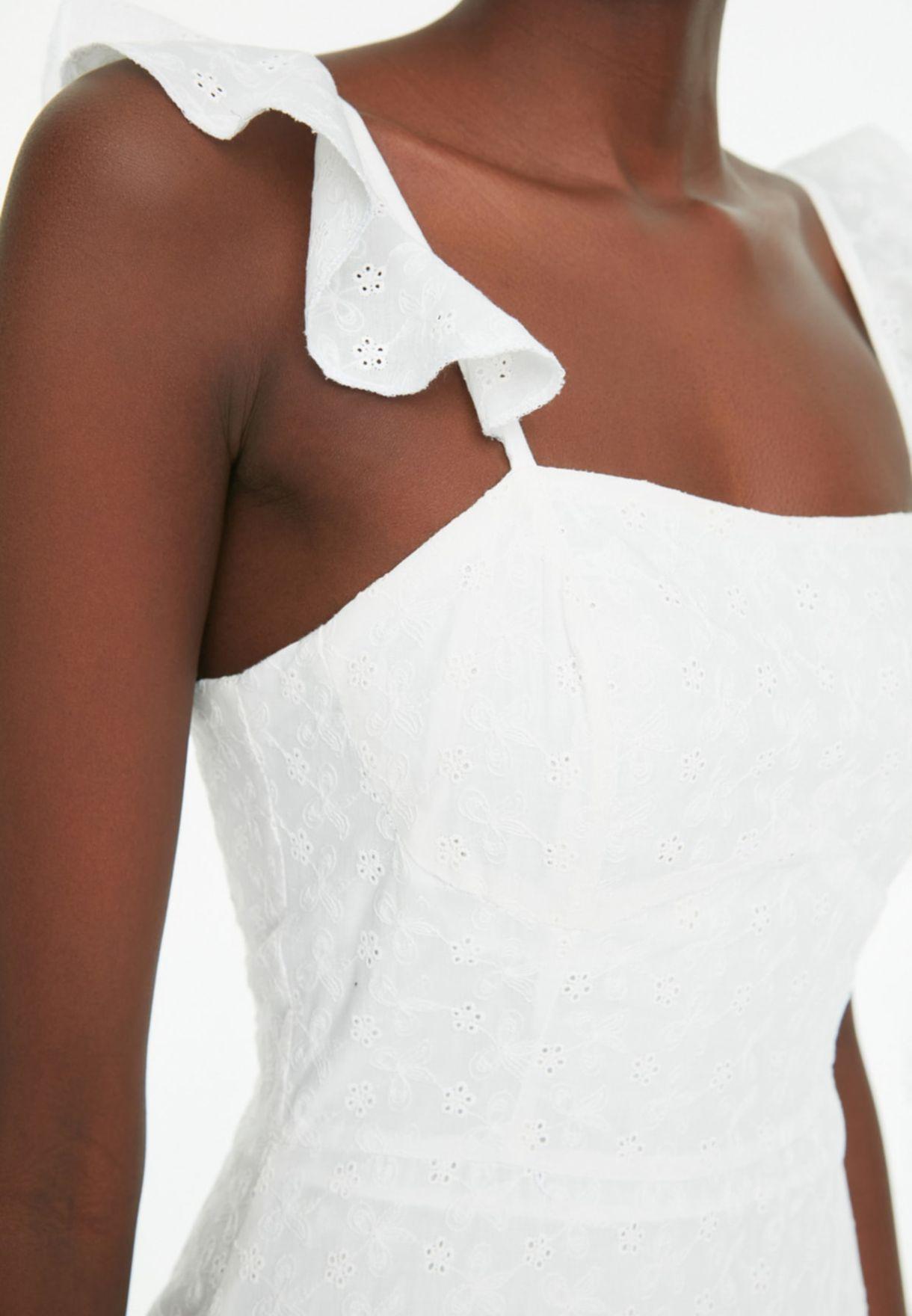 Lace Detail Shift Dress