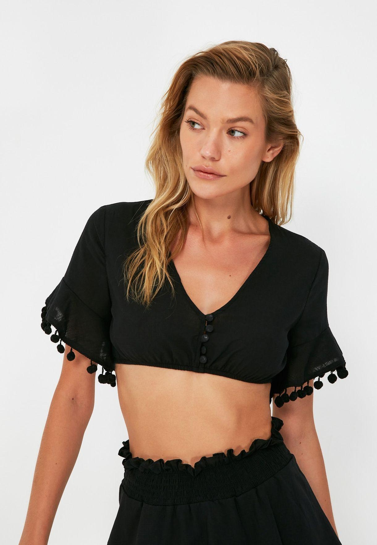 Knitted Bikini Top & Bottom Set