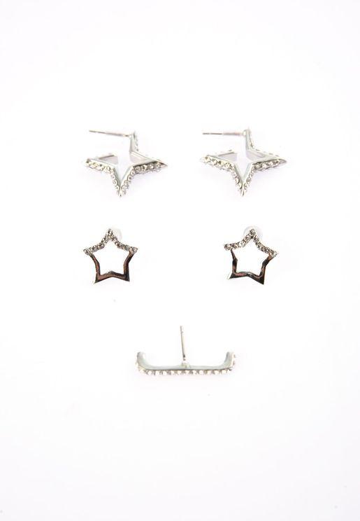 Silver Star Multi Bijouterie Earring