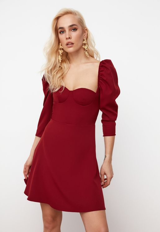 Sweetheart Neck Dress