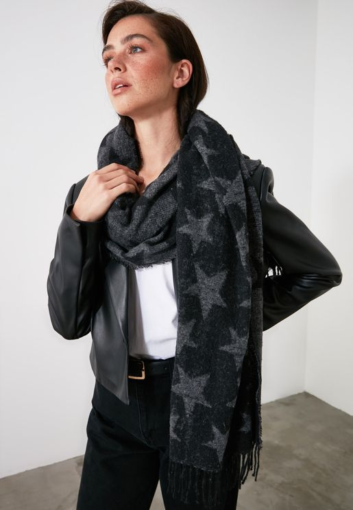 Star Patterned Scarf