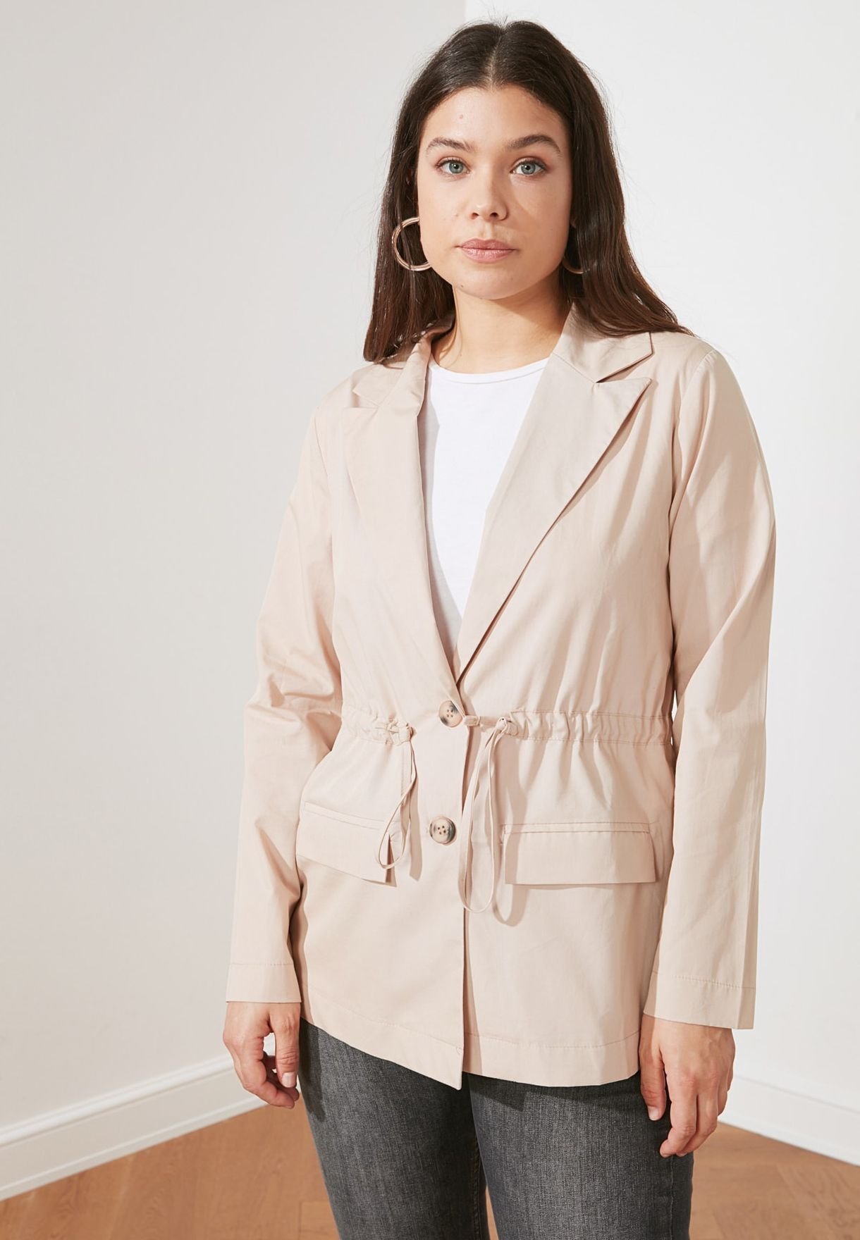 Ruched Detail Jacket