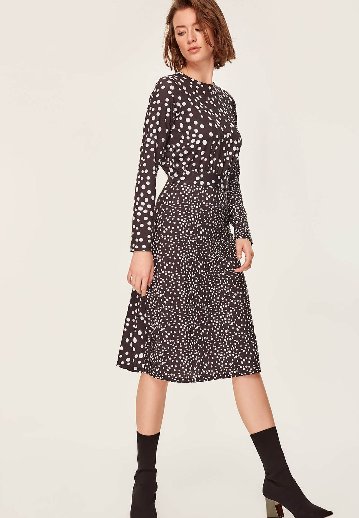 Buy Trendyol Black Polka Dot Dress For Women, Uae 27680atl5yrp