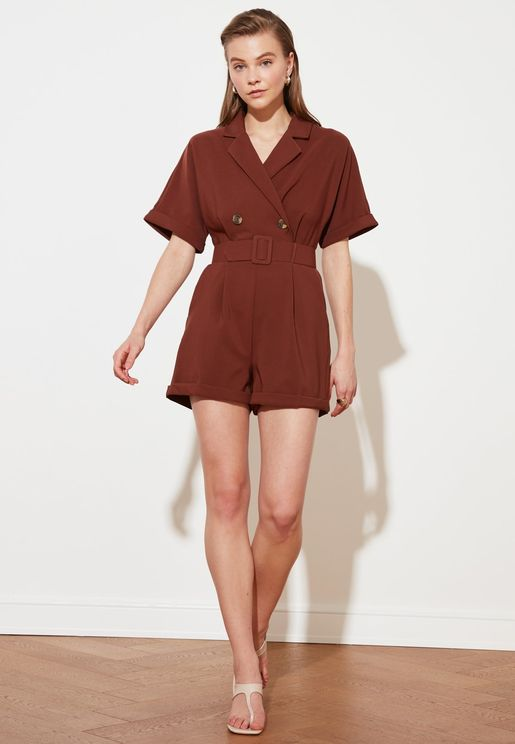 Roll Sleeve Playsuit