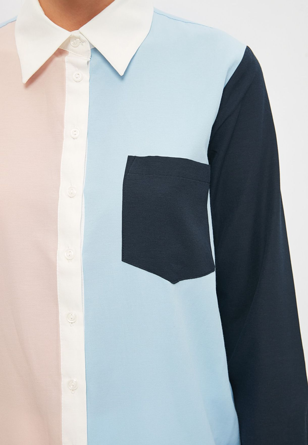 Colorblock Tunic Top