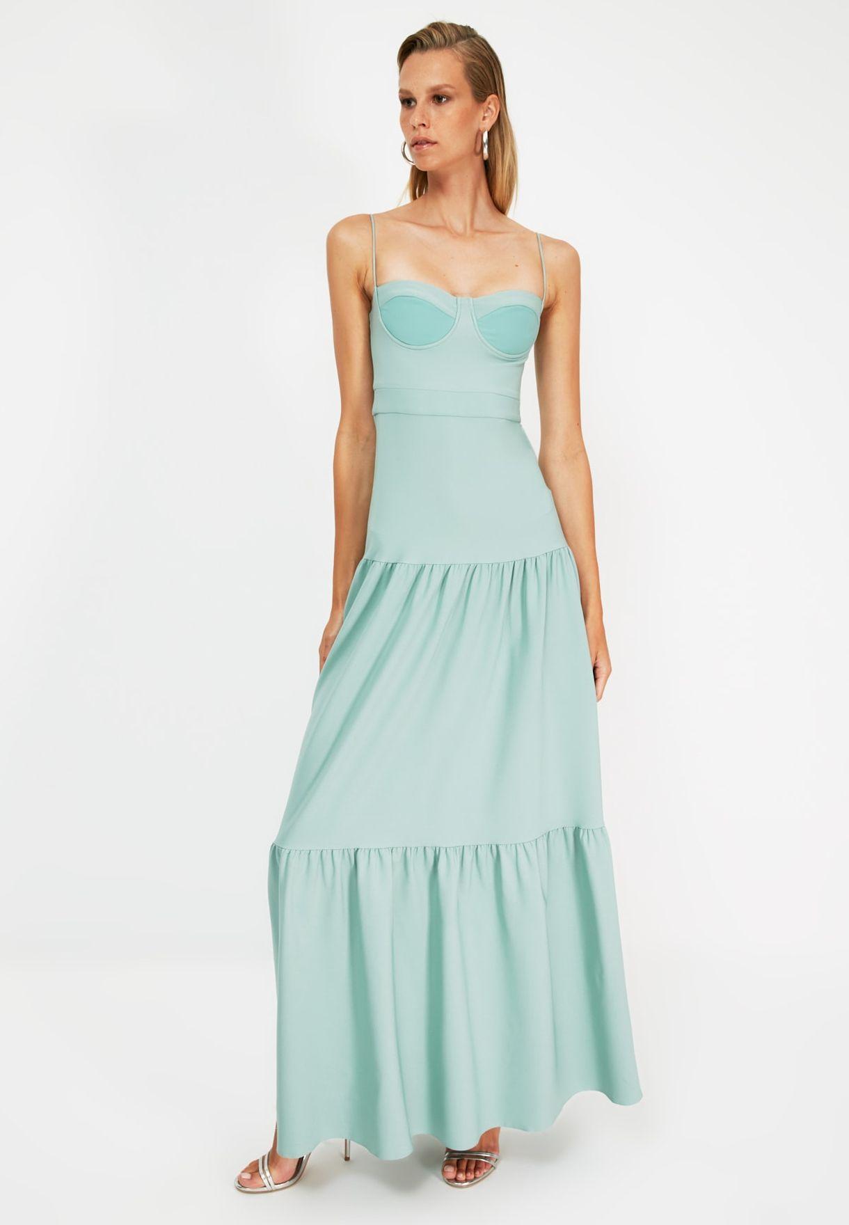 Bardot Pleated Dress