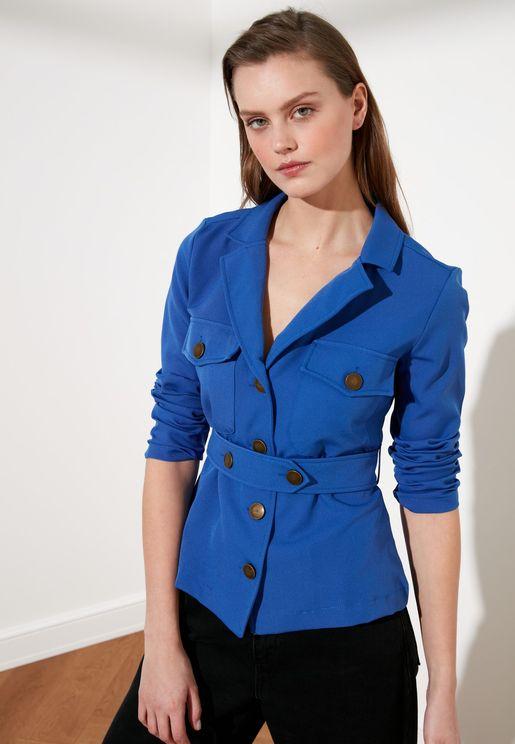 Pocket Detail Button Down Jacket