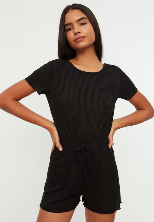 Wide Leg Knitted Playsuit