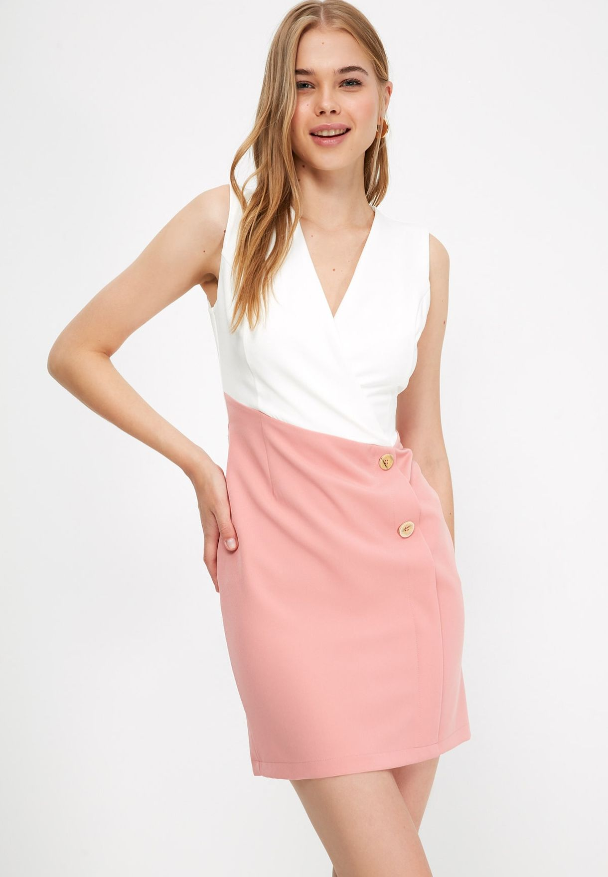 Colorblock Blazer Dress