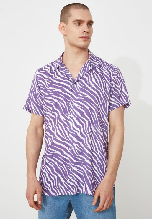 Tiger Print Relaxed Fit Shirt