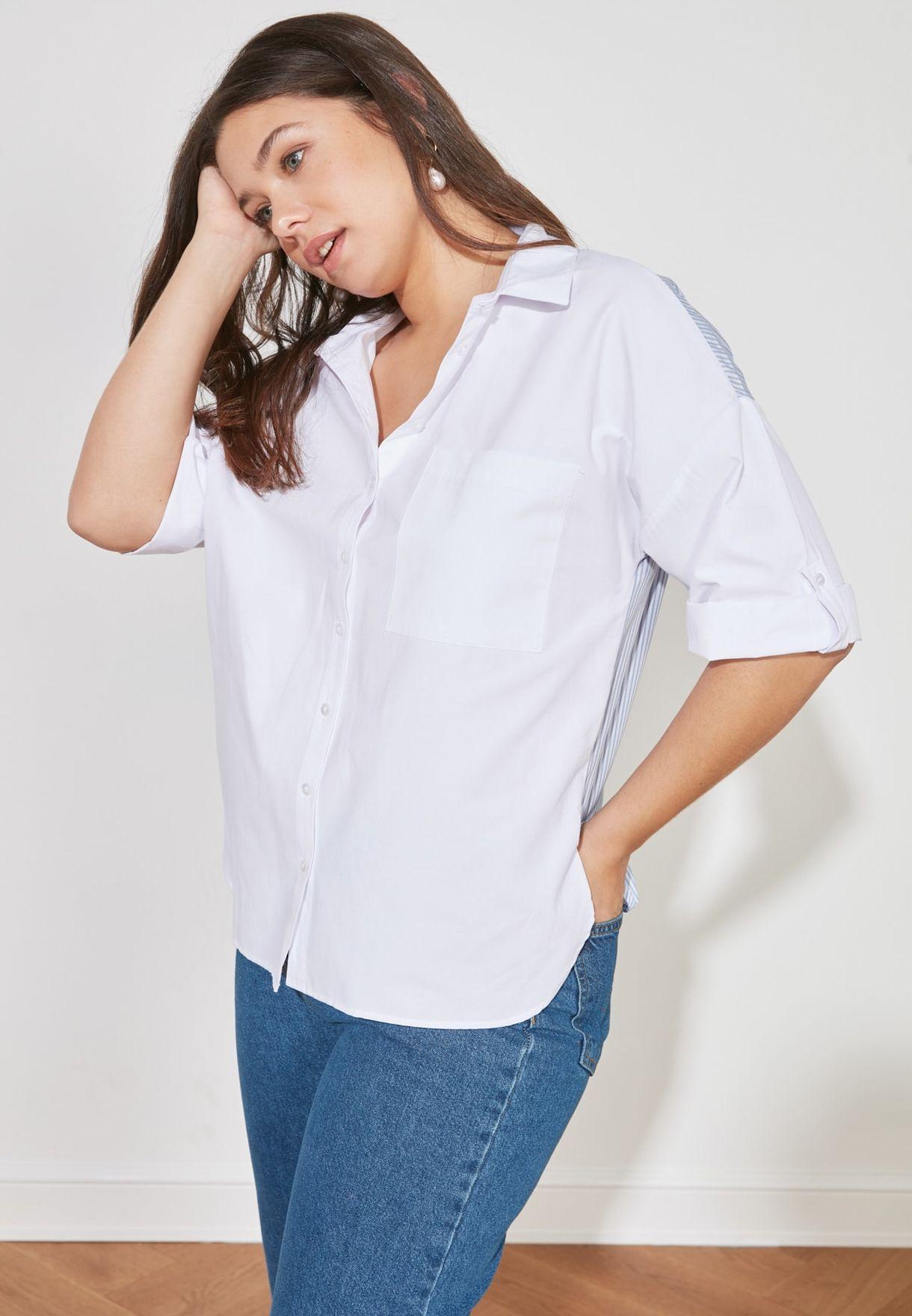 Pocket Detail Striped Shirt