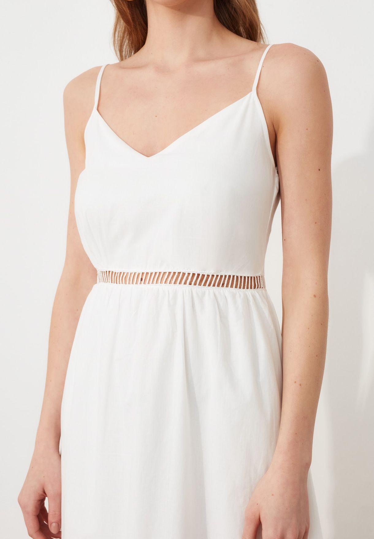 Broderie Detail Cami Dress