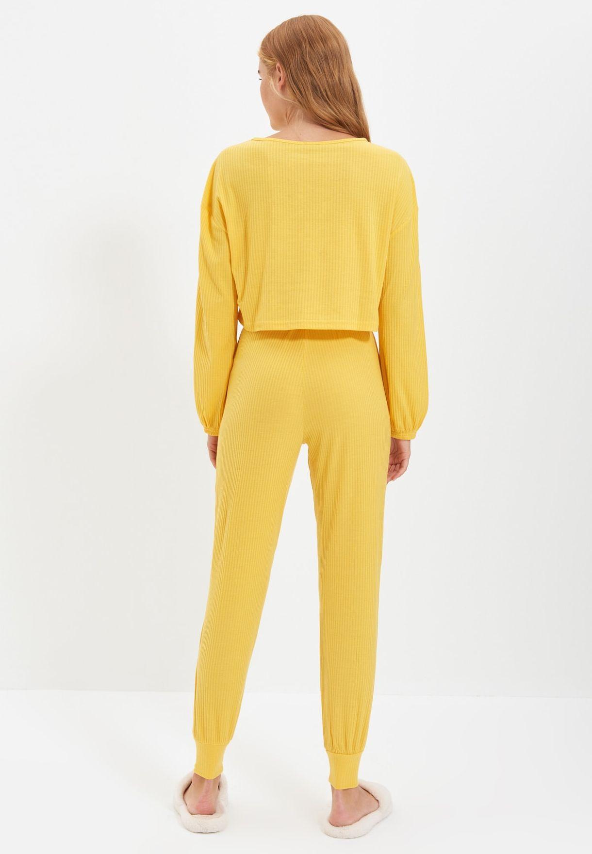 Crop T-Shirt & Pyjama Set