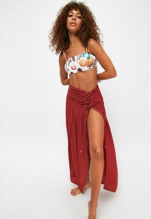 Front Split Maxi Skirt