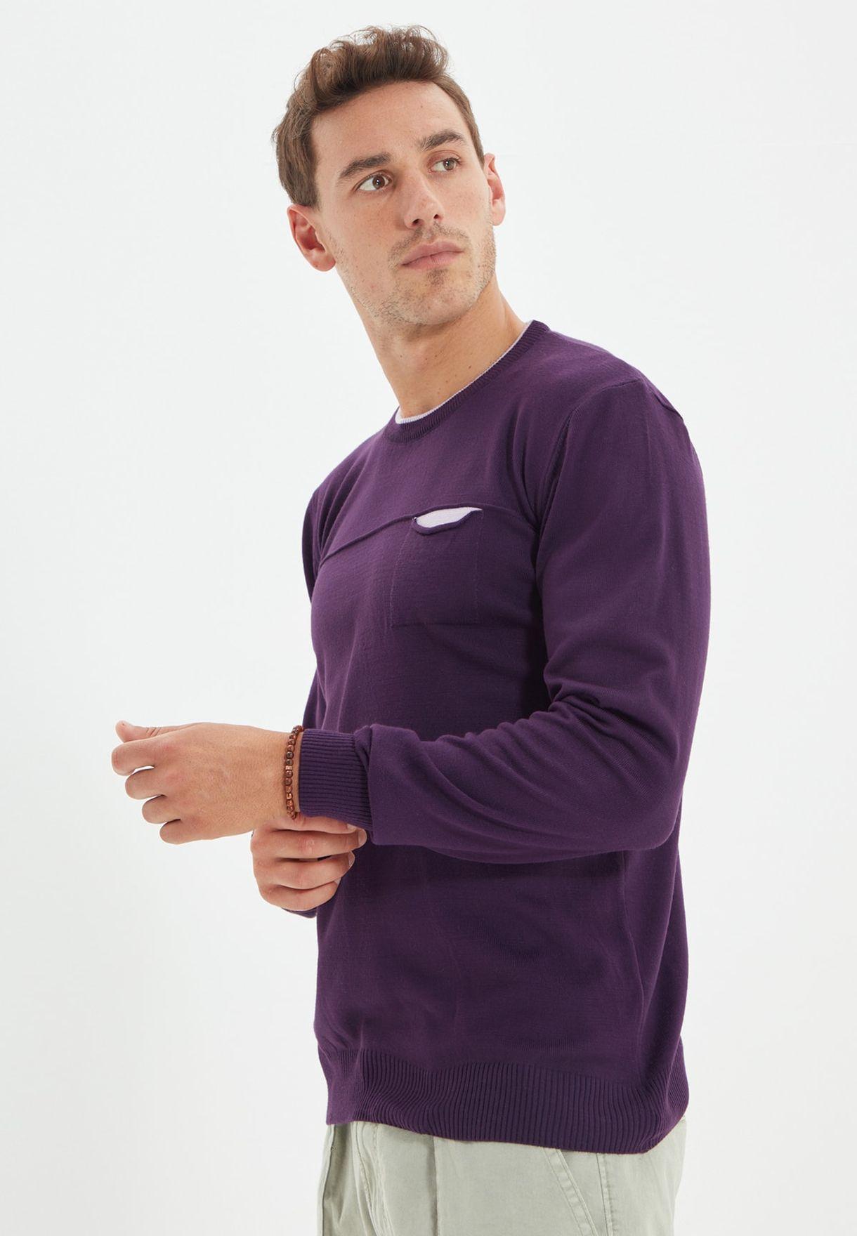 Contrast Pocket Sweatshirt