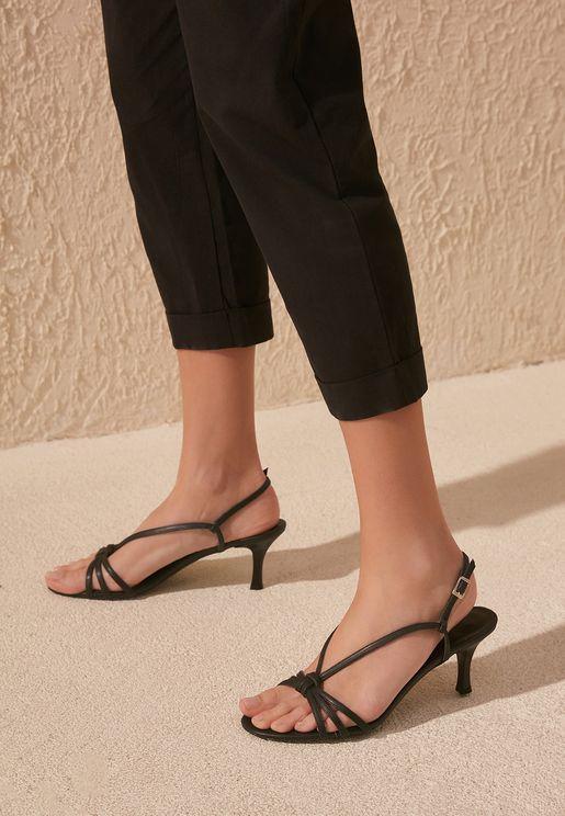 Multi Strap Mid-Heel Sandal