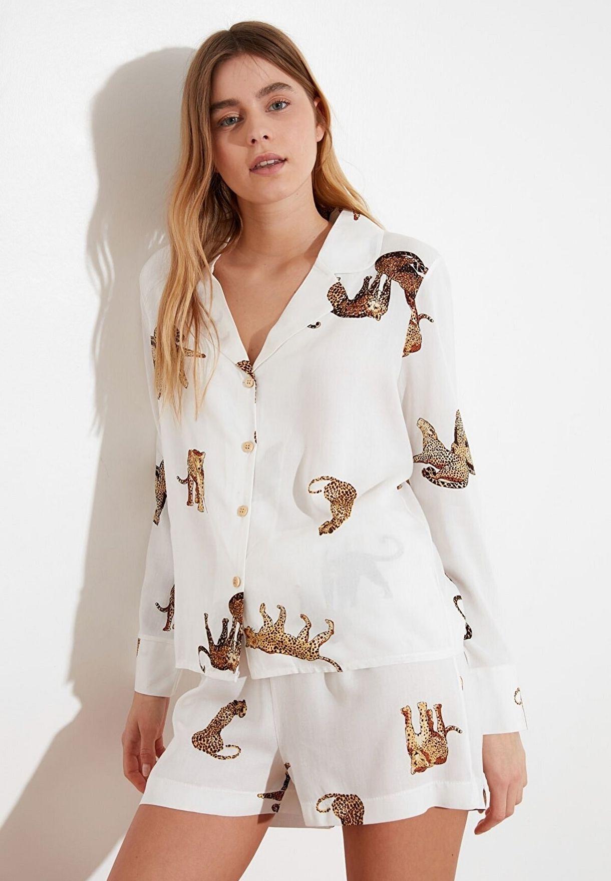 Animal Print Pyjama Set