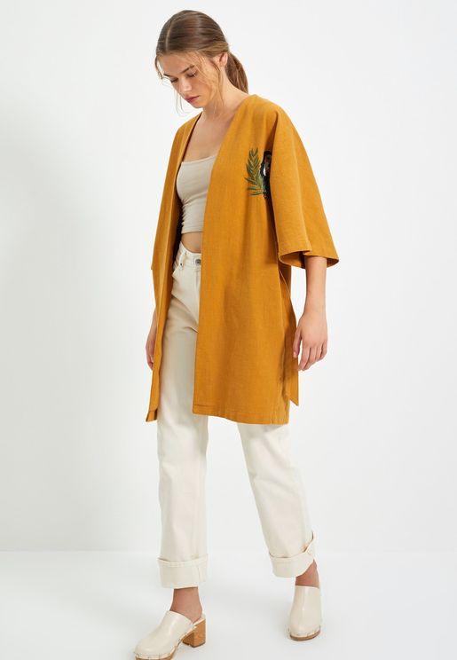 Printed  Knitted Kimono