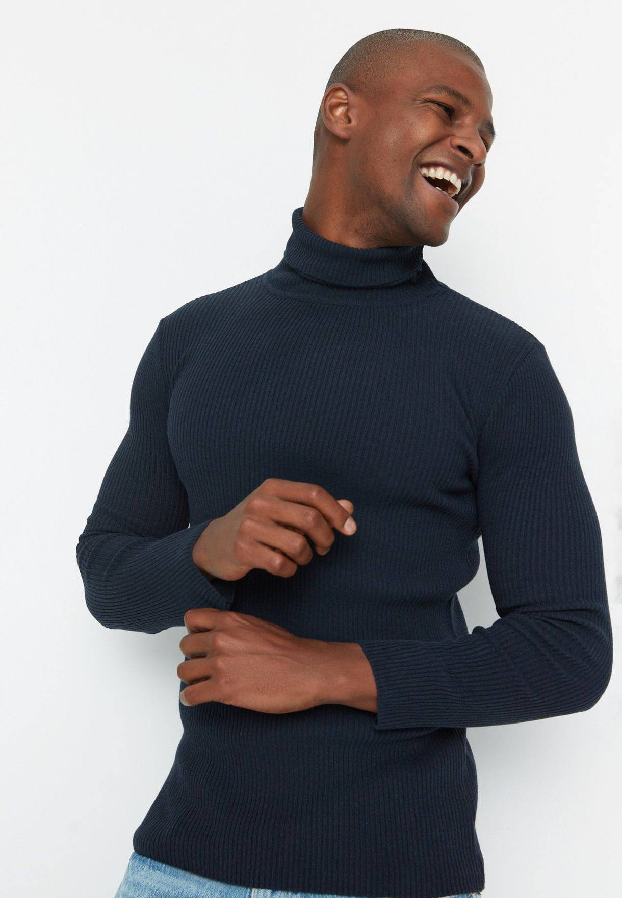 Ribbed Turtle Neck Sweater