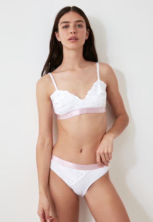 Lace Detail Bra & Brief Set