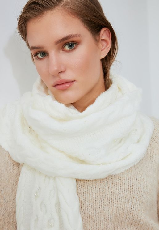 Knit Detailed Knitwear Scarf