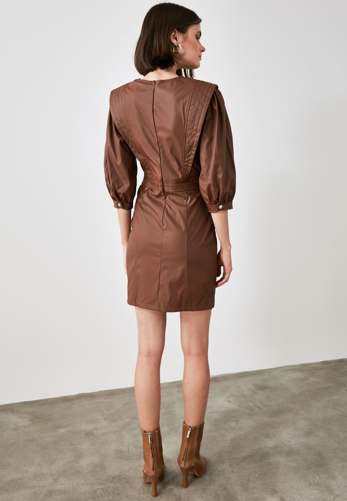 Puff Sleeve Bodycon Dress