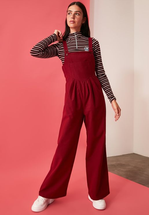 Wide Strap Oversized Jumpsuit
