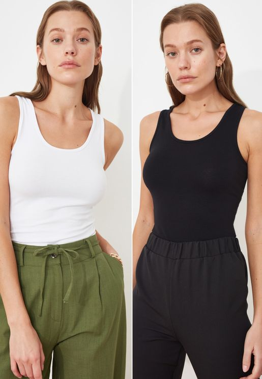 2 Pack Knitted Tank Top