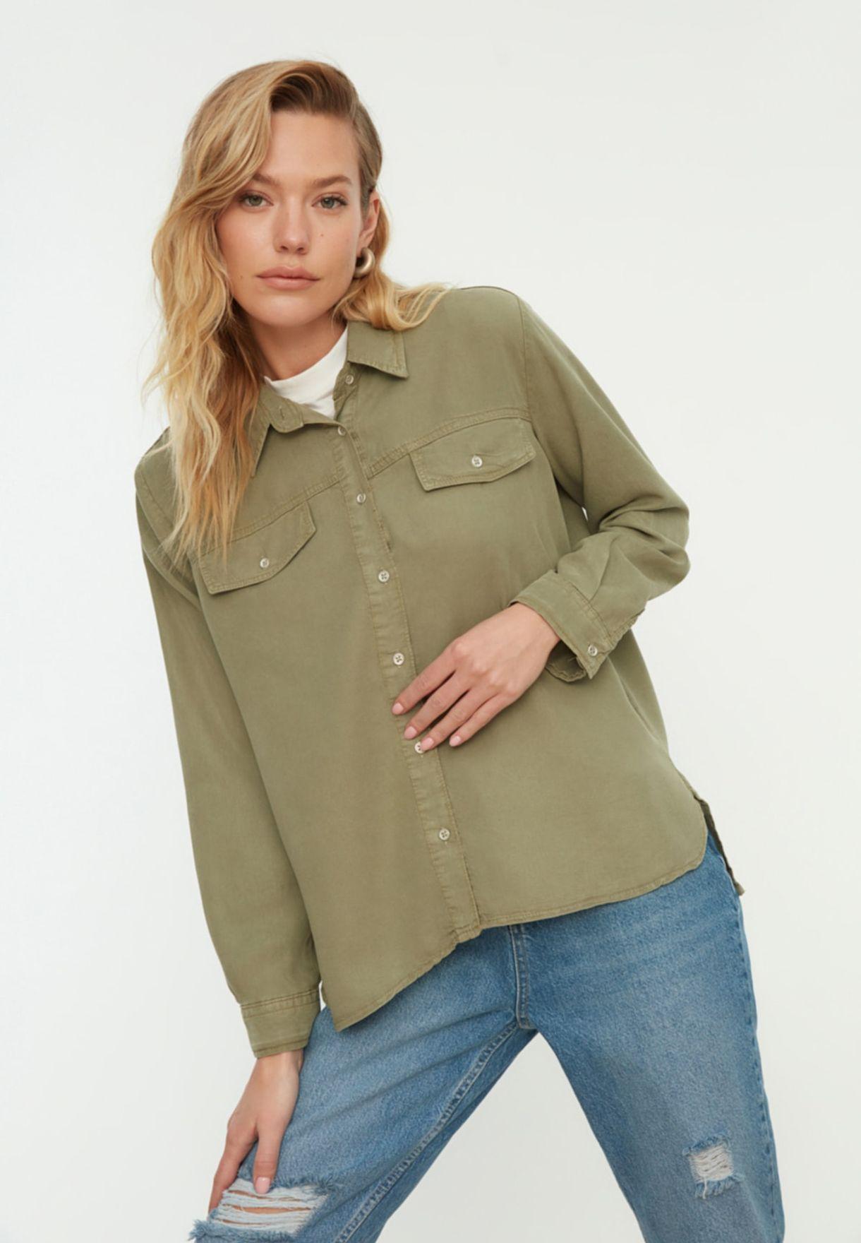 Pocket Detail Denim Shirt