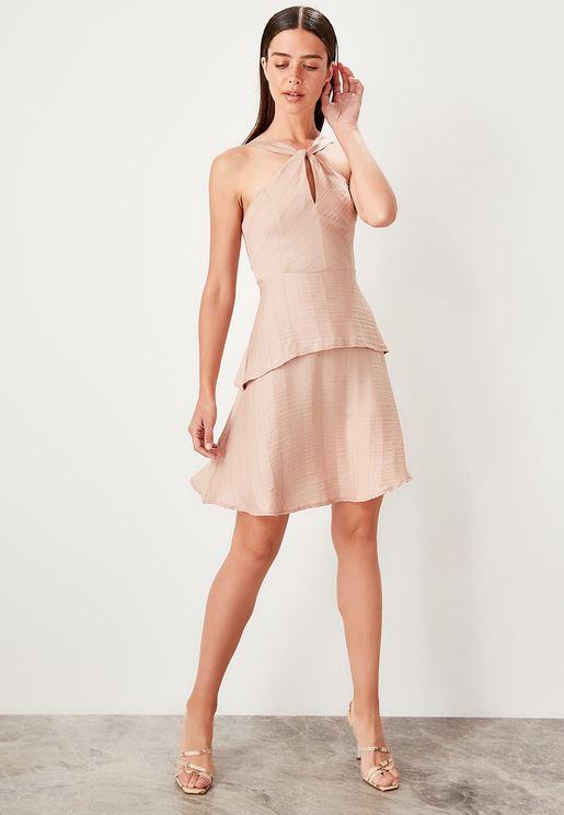 Layered Keyhole Dress