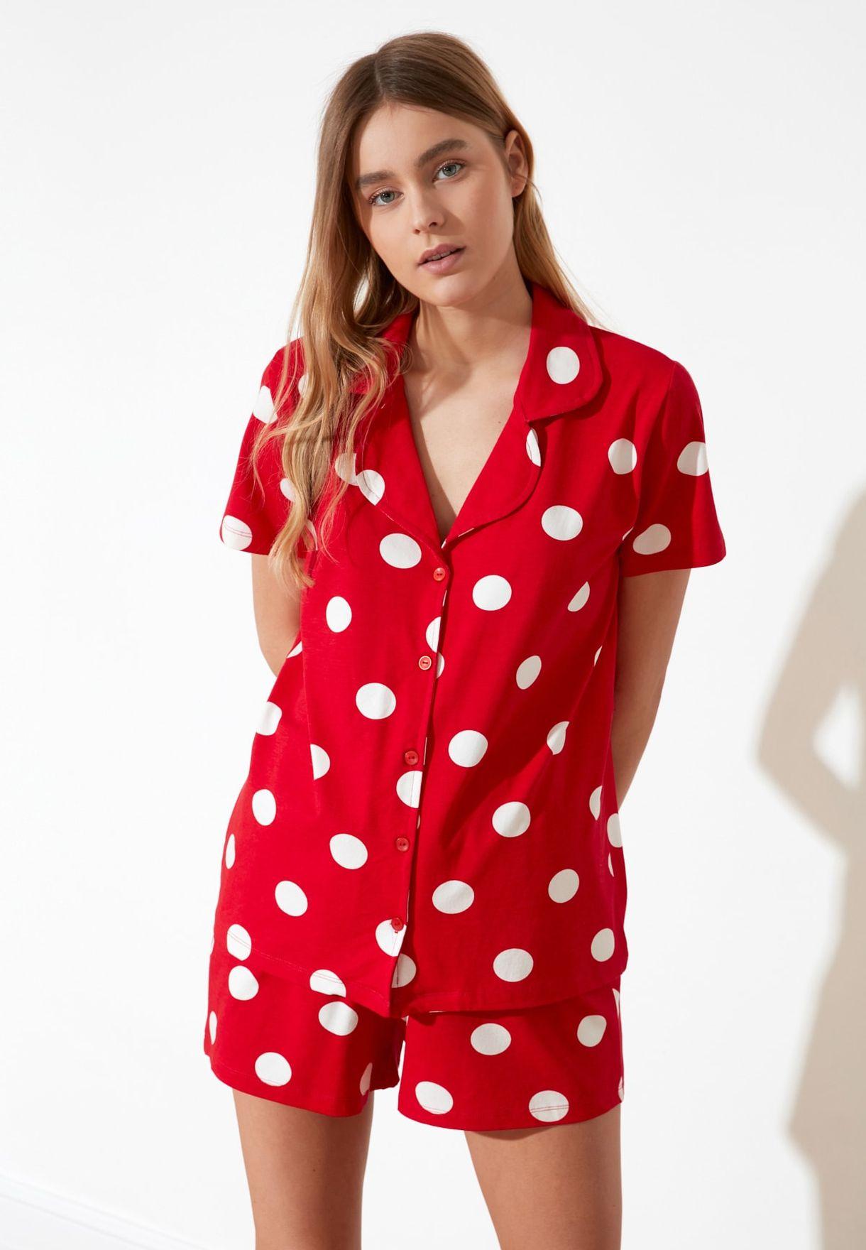 Polka Dot  Shirt & Shorts Set