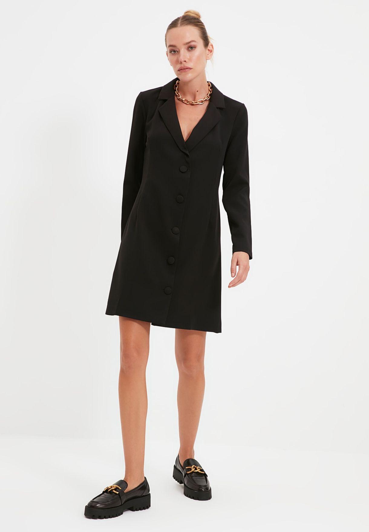 Button Down Blazer Dress