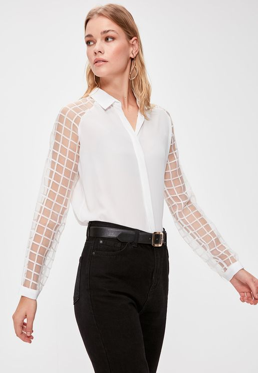 Mesh Sleeve Shirt
