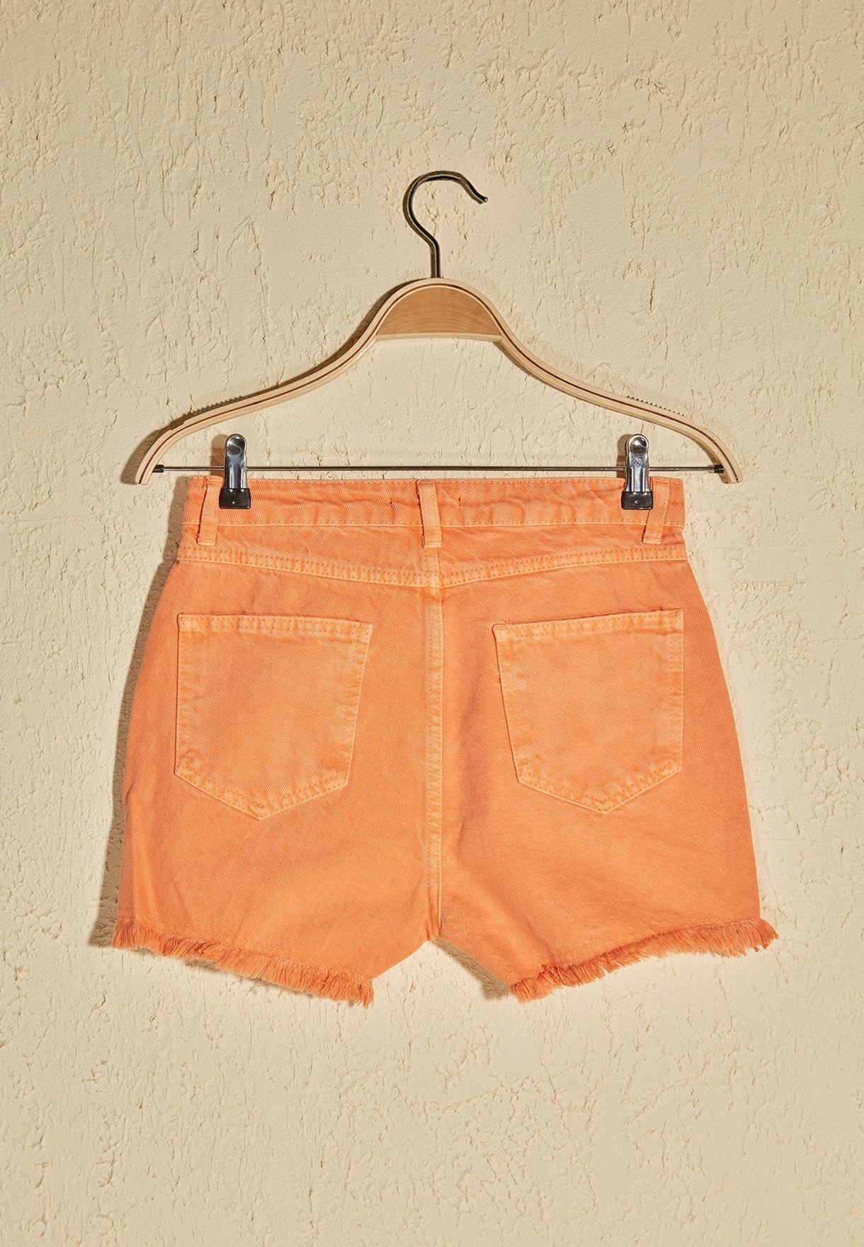 Tassel Detail Denim Shorts