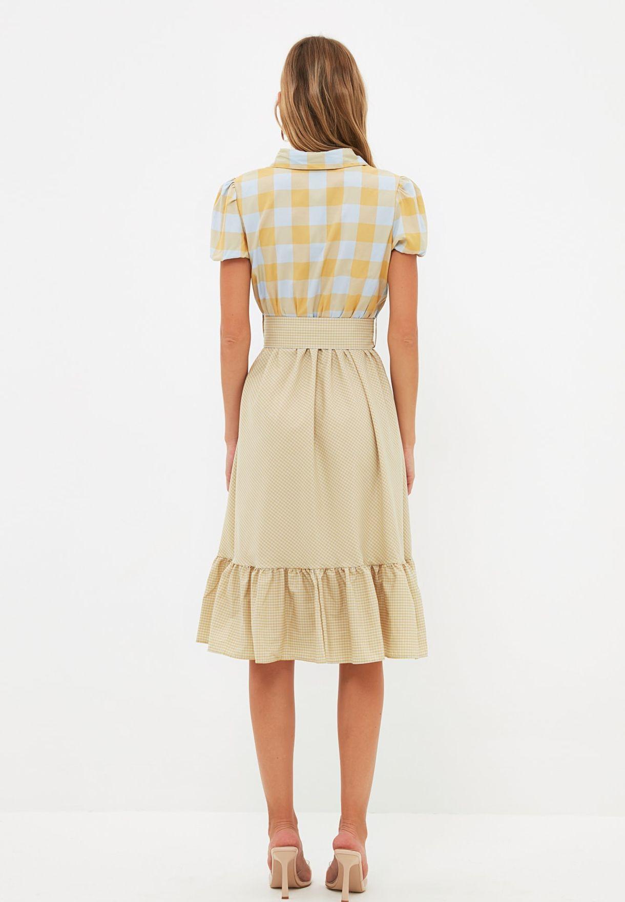 Ruffle Detail Skater Dress