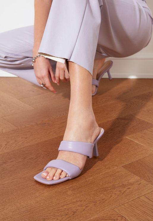 Chunky Toe High Heel Sandal