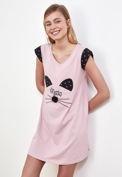 Graphic Nightdress