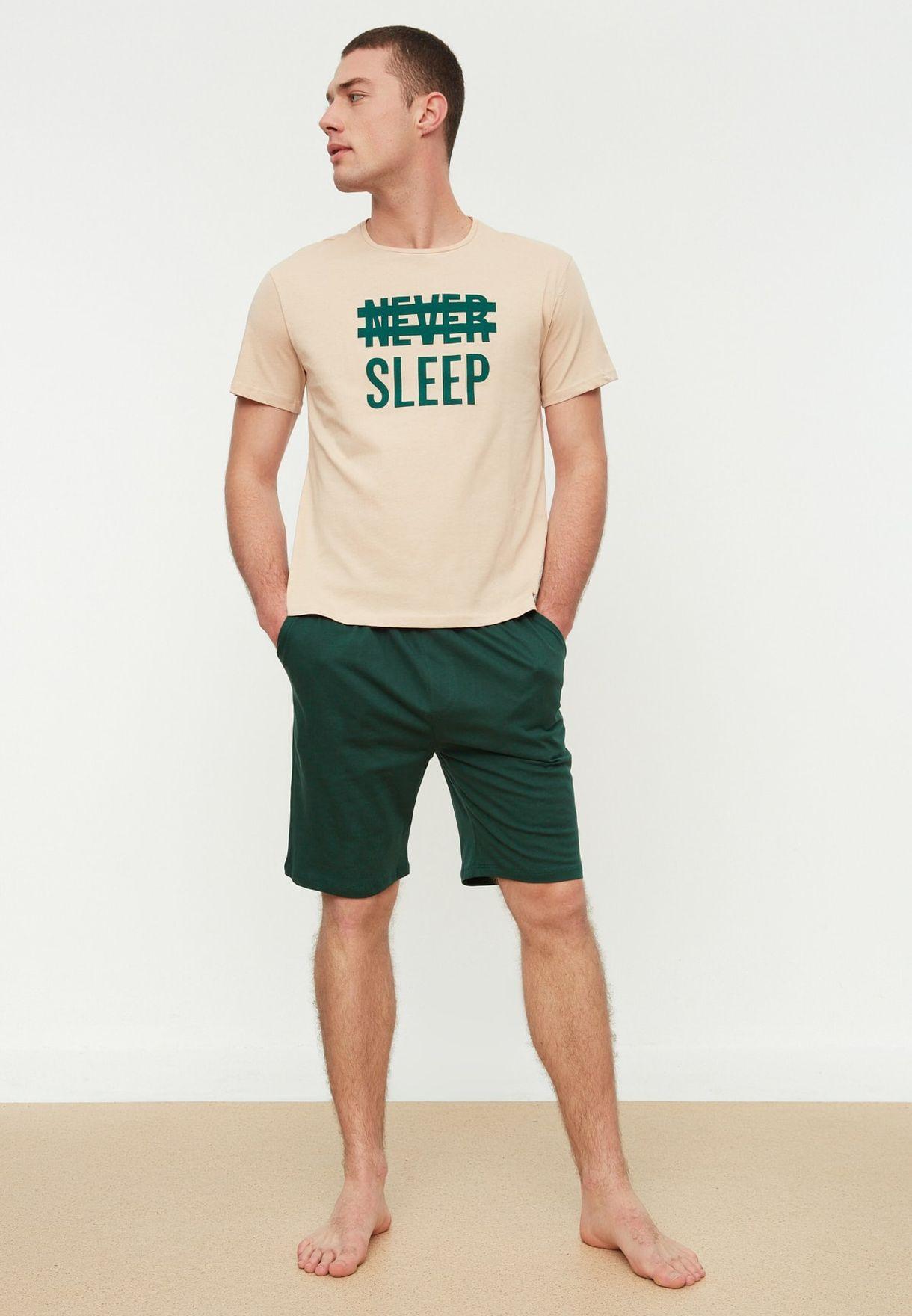 Never Sleep Pyjama Set