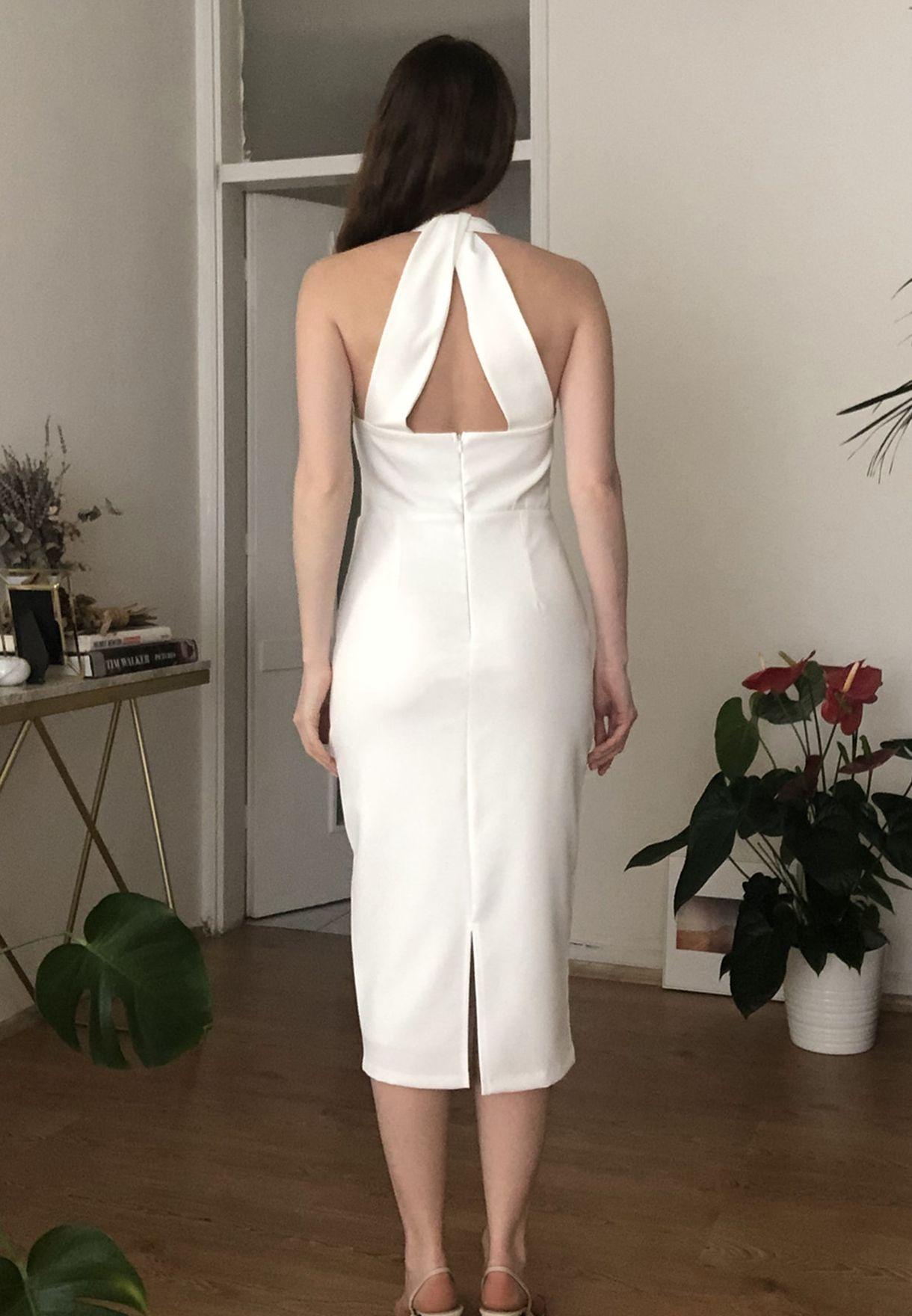 Choker Neck Bodycon Dress