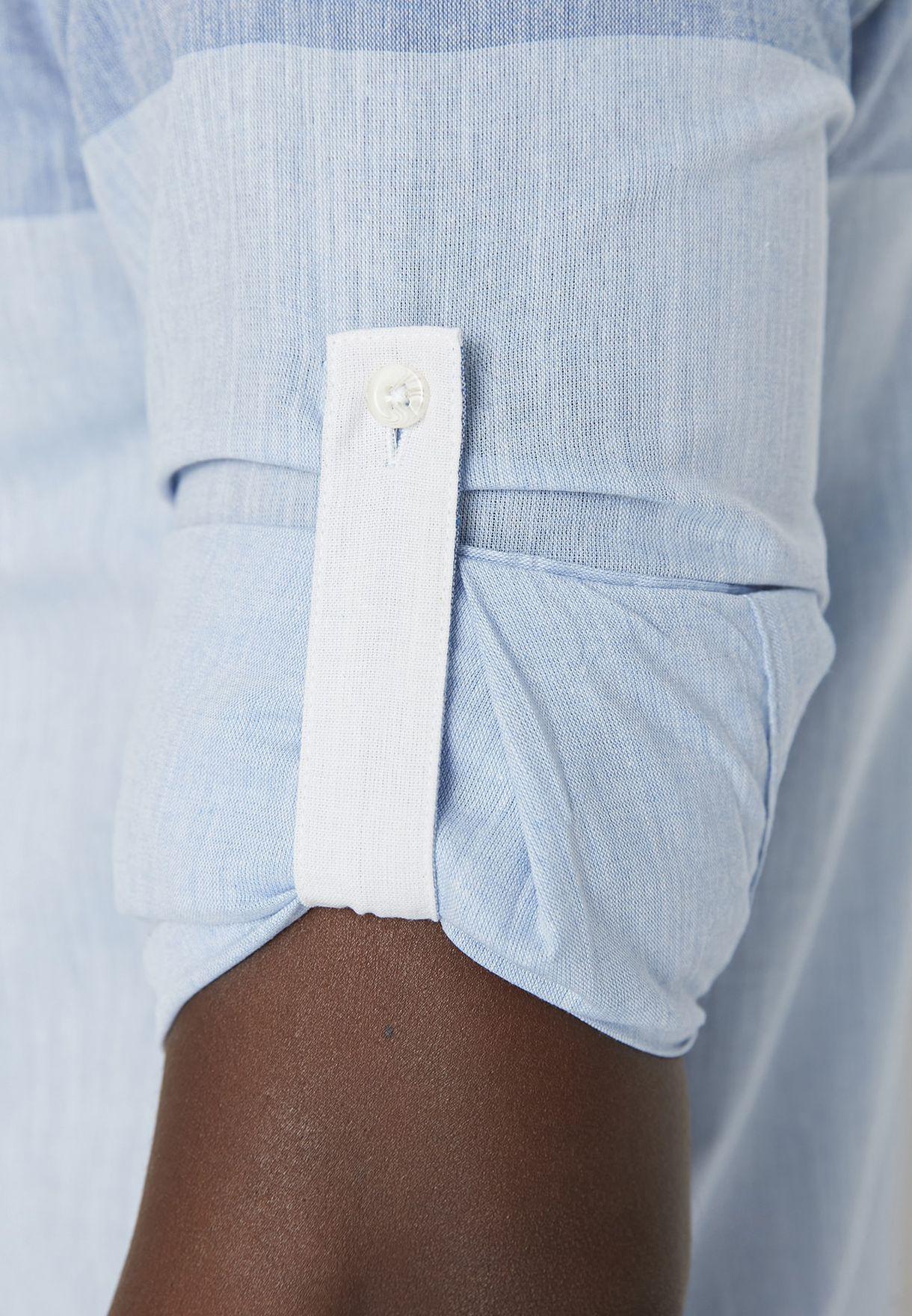 Color Block Slim Fit Shirt