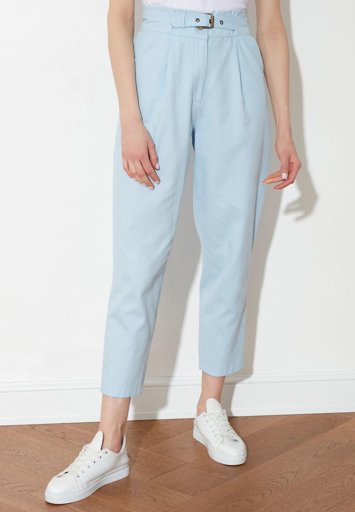 High Waist Knitted Pants
