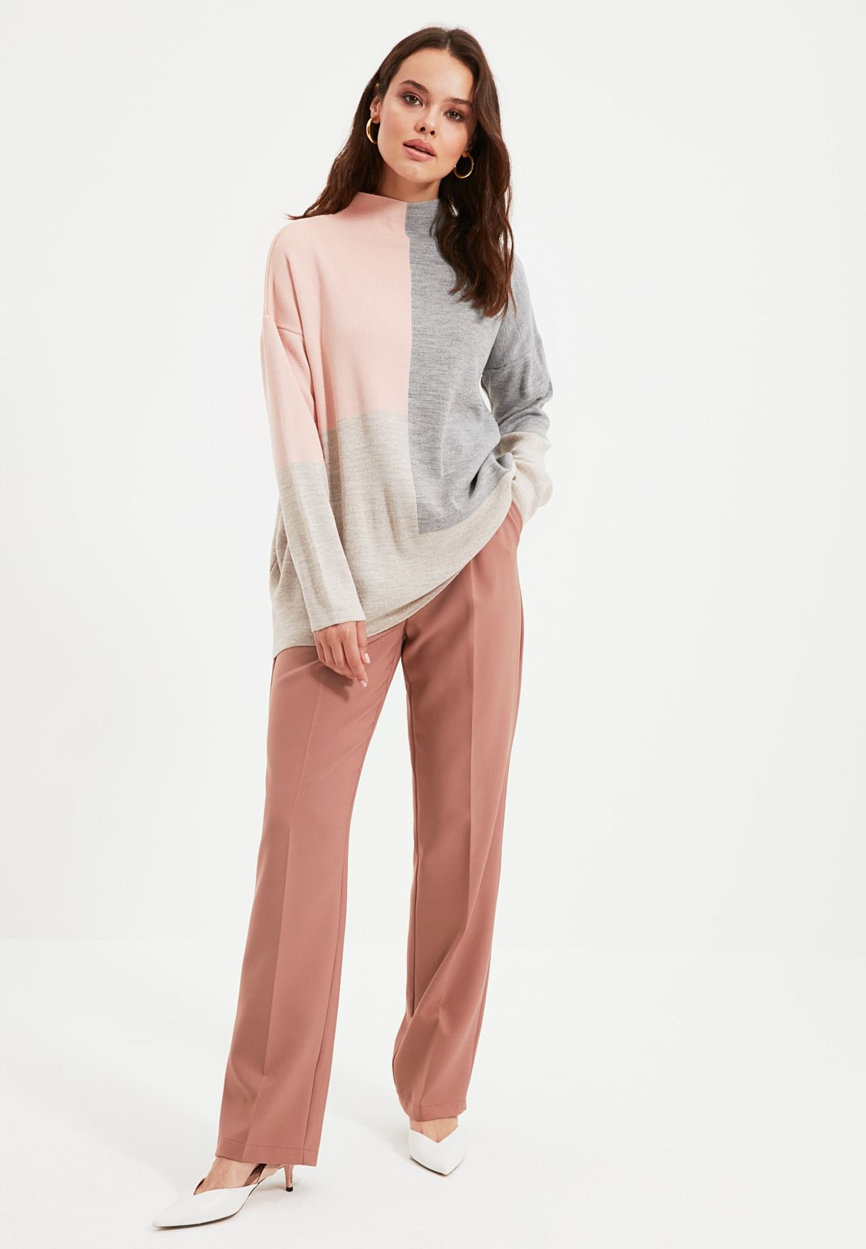 Colorblock Knitted Sweater