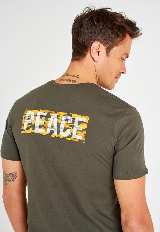 Peace Crew Neck T-Shirt