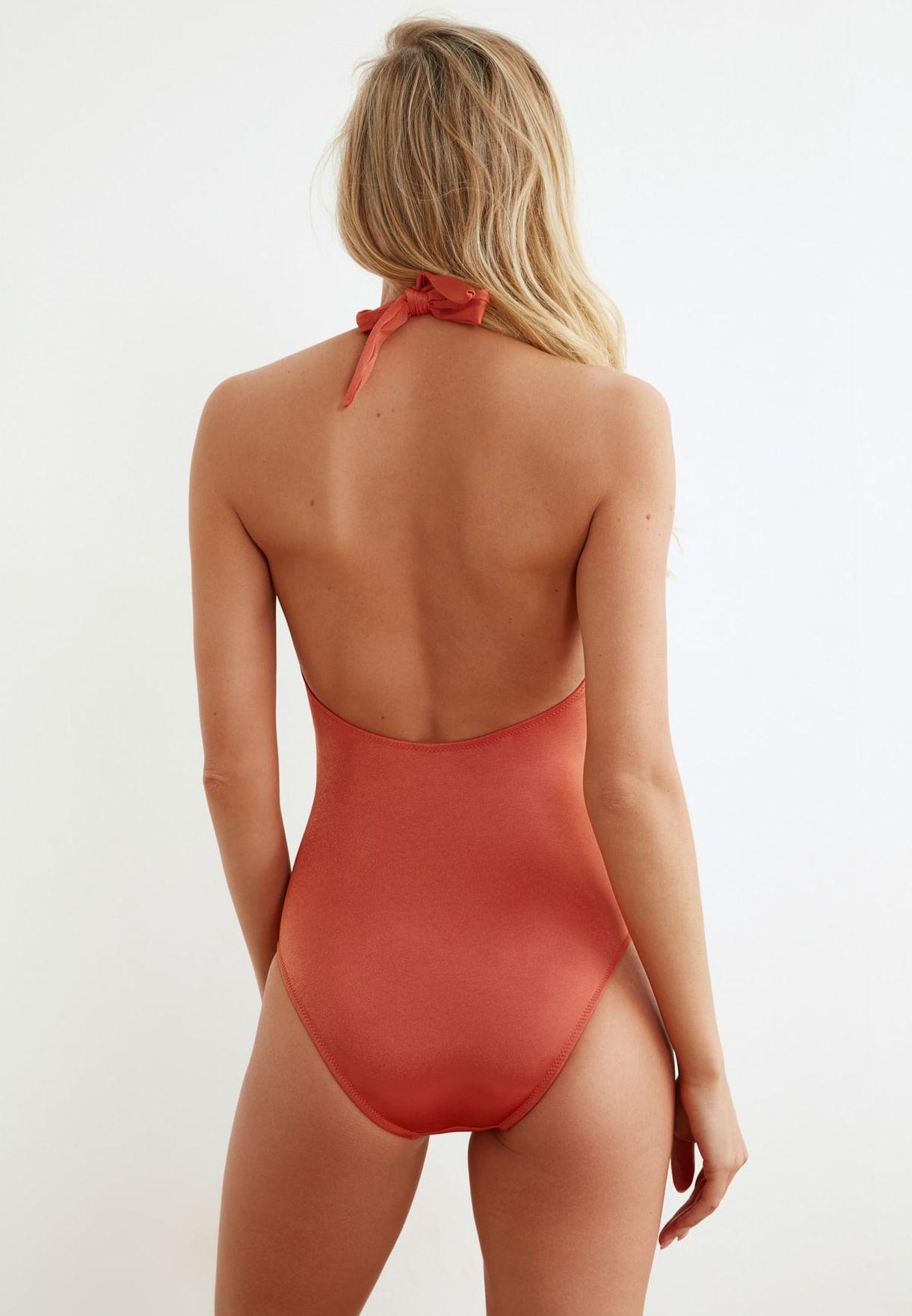 Buckle Detail Swimsuit